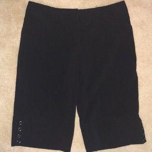 BCX Black Bermuda Length Dress Shorts